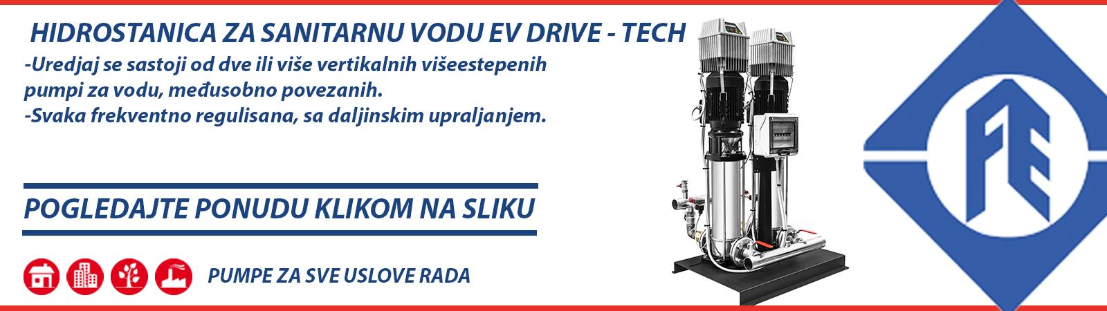 Hidrostanica za sanitarnu vodu Franklin Electric EV DRIVE TECH